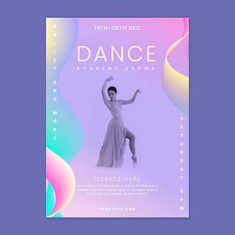 Modèle d'affiche de danseur de ballet
