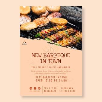 Modèle d'affiche de délicieux barbecue