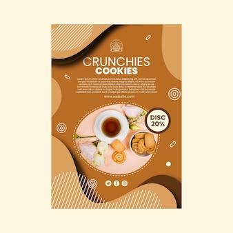 Modèle d'affiche de délicieux cookies