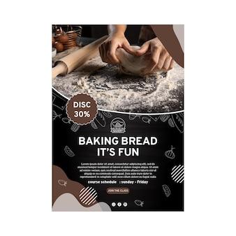 Modèle d'affiche de délicieux pain