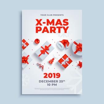 Modèle d'affiche ou dépliant affiche de mise en page fête joyeux noël.
