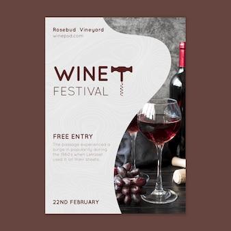 Modèle d'affiche du festival du vin