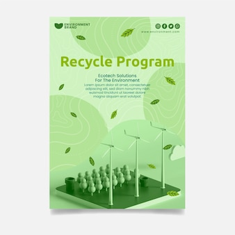 Modèle d'affiche du programme de recyclage