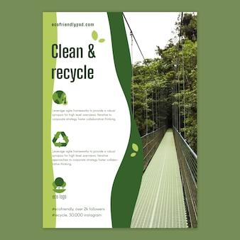 Modèle d'affiche d'écologie