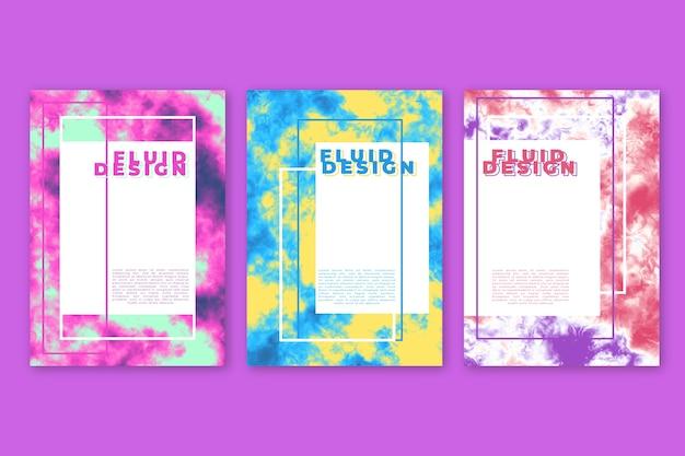 Modèle d'affiche effet fluide coloré