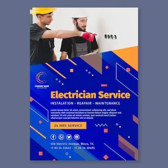 Modèle d'affiche d'électricien