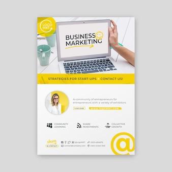 Modèle d'affiche d'entreprise de marketing