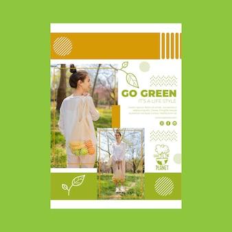 Modèle d'affiche d'environnement