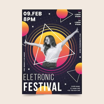 Modèle d'affiche d'événement musical 2021
