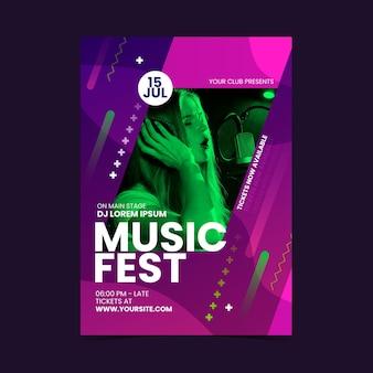 Modèle d'affiche d'événement musical