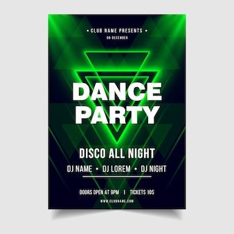 Modèle d'affiche d'événement de musique dance party night