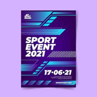Modèle d'affiche d'événement sportif