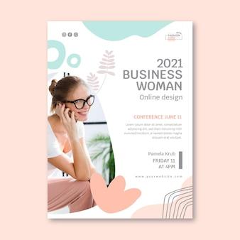 Modèle d'affiche de femme d'affaires