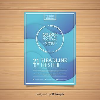 Modèle d'affiche de festival de musique