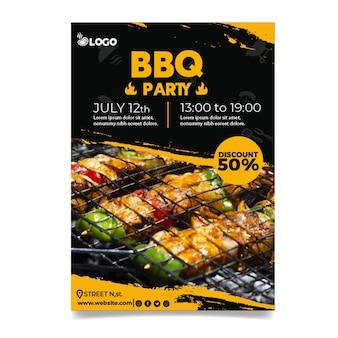 Modèle d'affiche de fête barbecue
