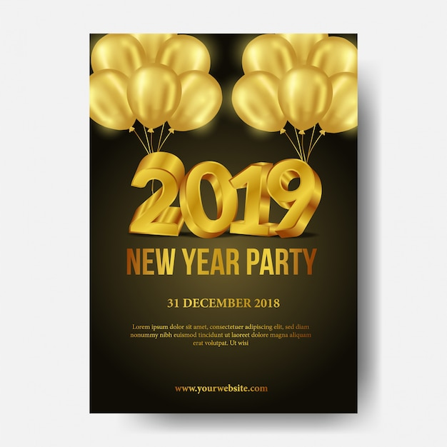 Modèle d'affiche fête bonne année