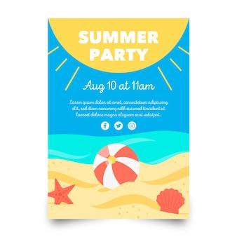 Modèle d'affiche de fête d'été