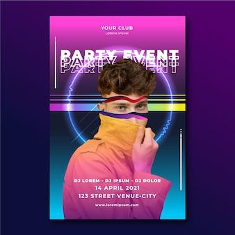 Modèle d'affiche de fête d'événement abstrait