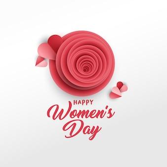 Modèle d'affiche fête des femmes heureux