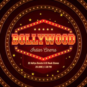 Modèle d'affiche de fête de style bollywood