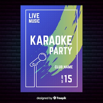 Modèle d'affiche ou de flyer de soirée karaoké