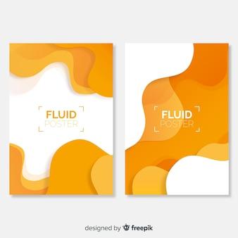 Modèle d'affiche avec des formes fluides