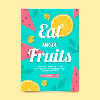 Modèle d'affiche avec des fruits
