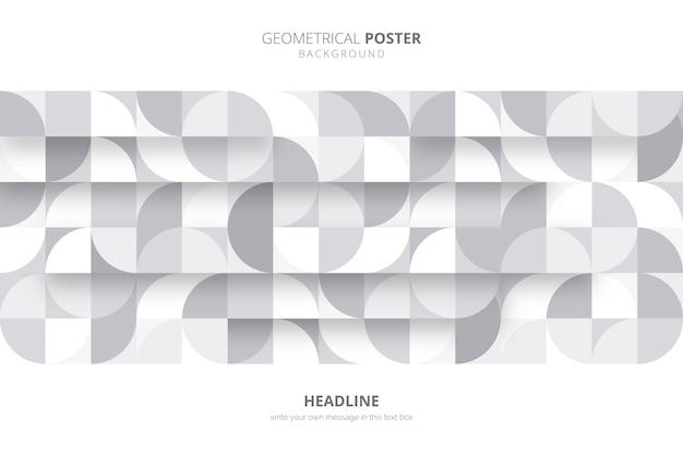 Modèle d'affiche géométrique