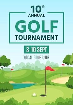 Modèle d'affiche de golf