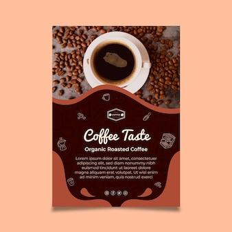Modèle d'affiche de goût de café