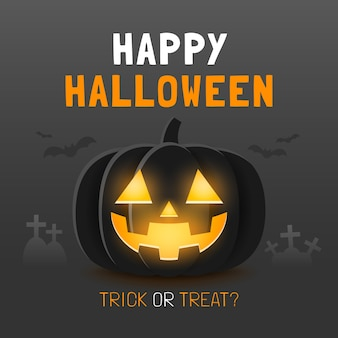 Modèle d'affiche happy halloween ou modèle de bannière