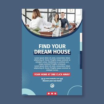 Modèle D'affiche Immobilière Vecteur gratuit