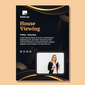 Modèle d'affiche immobilière