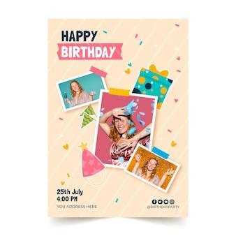 Modèle d'affiche d'invitation d'anniversaire