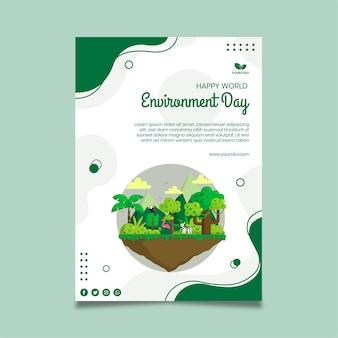 Modèle d'affiche de la journée de l'environnement