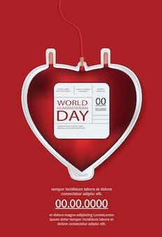 Modèle d'affiche de la journée humanitaire mondiale