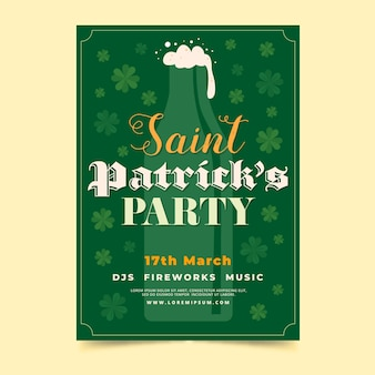 Modèle d'affiche lettrage st patricks day