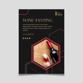 Modèle d'affiche de magasin de vin
