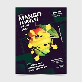 Modèle d'affiche mangue