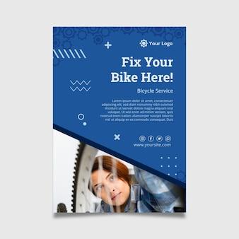 Modèle d'affiche de mécanicien de vélo