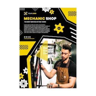 Modèle d'affiche de mécanicien