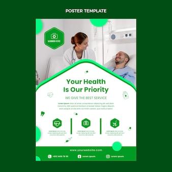 Modèle d'affiche médicale design plat