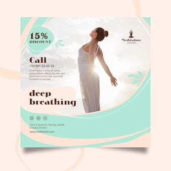 Modèle d'affiche de méditation