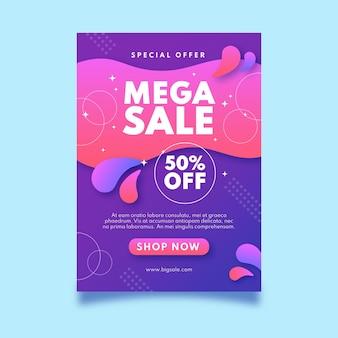 Modèle d'affiche de méga vente dégradé