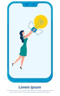 Modèle d'affiche de métaphore de chasse aux rêves