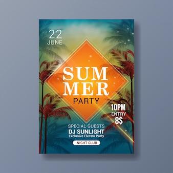 Modèle d'affiche moderne fête d'été