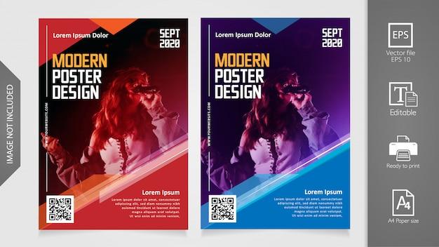 Modèle d'affiche moderne