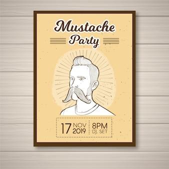 Modèle d'affiche movember moustache