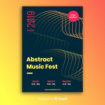 Modèle d'affiche de musique abstraite