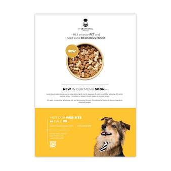 Modèle d'affiche de nourriture pour animaux
